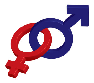 Male & female symbols intertwined