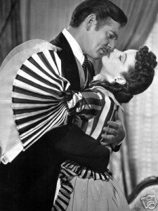Gone with the Wind kiss