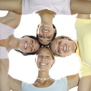 four teenage girls