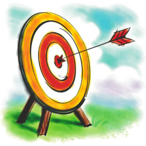 Bull's-eye! Illustration from Microsoft Word Clip Art