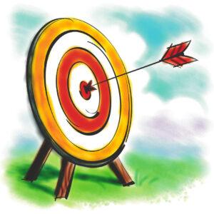 Bull's-eye! Illustration from Microsoft Word Clip Art