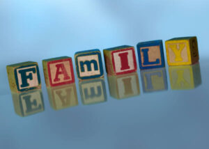 Blocks spelling FAMILY