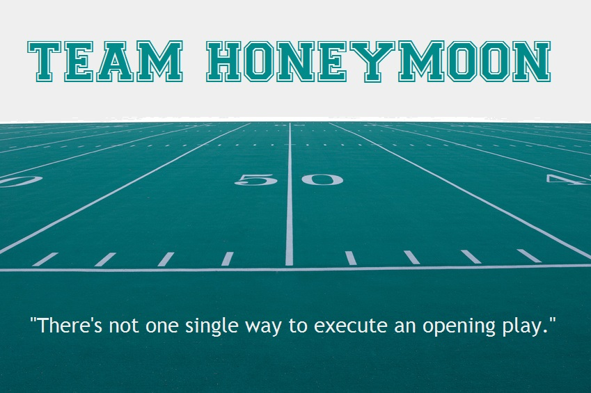 Football field: Team Honeymoon