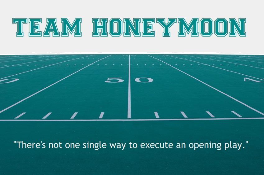 Football field: Team Honeymoon