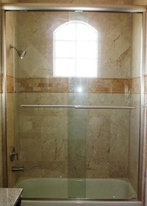 Standard bathtub shower