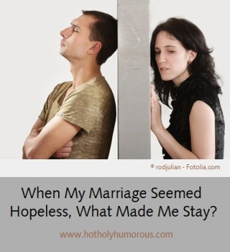 Husband & Wife separated by a wall