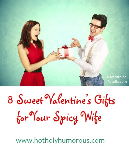 Man giving woman gifts, with proud smile on face + blog post title