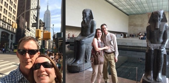 Hanging out by the Empire State Bldg and in the Metropolitan Museum of Art