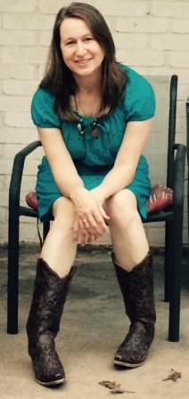 Julie in dress and boots
