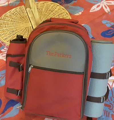 Happy Couple Picnic Backpack
