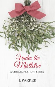 Under the Mistletoe short story cover - Title + sprig of mistletoe