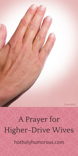 Blog post title + female praying hands