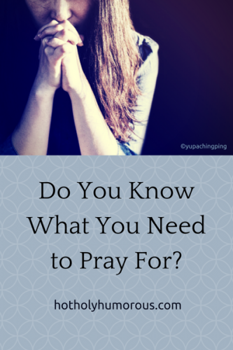 Blog post title, with woman praying (just showing torso & folded hands)