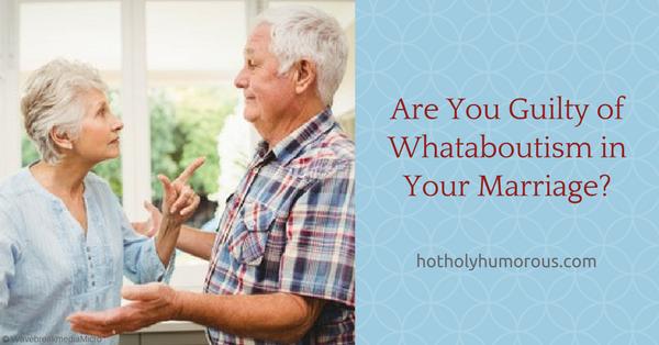 blog post title + older married couple arguing