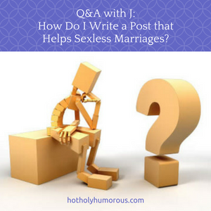blog post title with image of wood person sitting down and staring at a large question mark