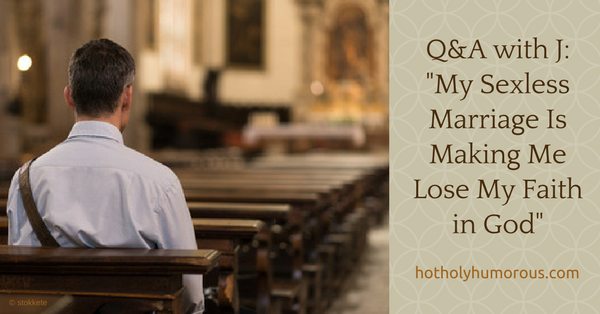 Blog post title + man sitting in pew, from behind