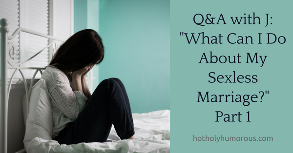 Blog post title + woman sitting on bed with head in hands