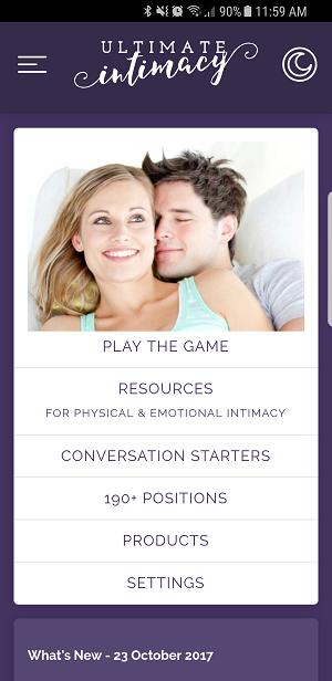 Ultimate Intimacy App screenshot
