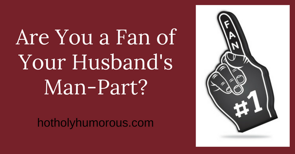 "Blog post title + image of large foam hand saying ""Fan"""