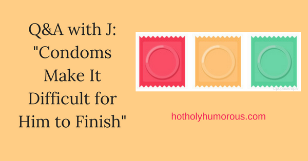 Blog post title + illustration of three condom wrappers