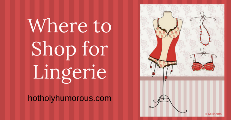 Blog post title + vintage-looking lingerie on a hanger stand