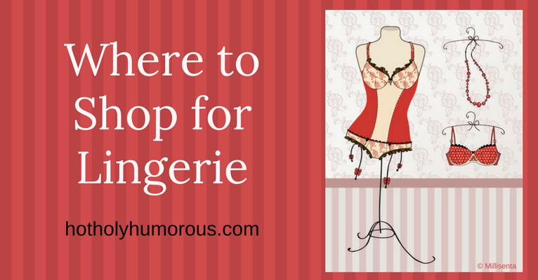 Blog post title + vintage-looking lingerie on a hanger stand