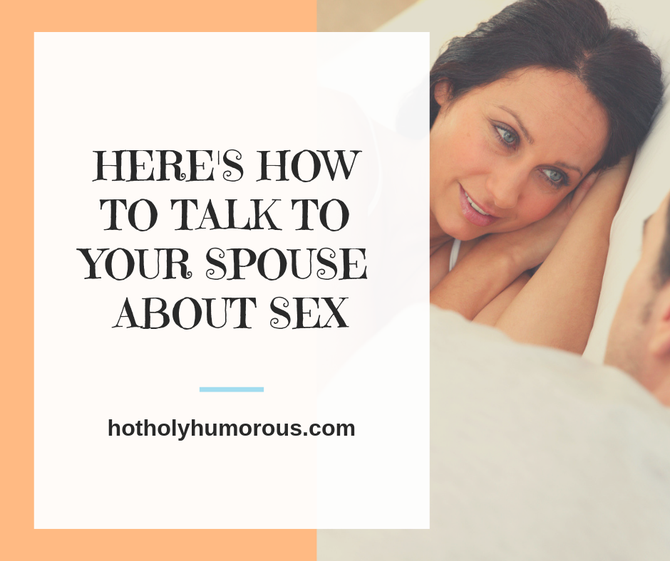 Blog post title + couple talking in bed